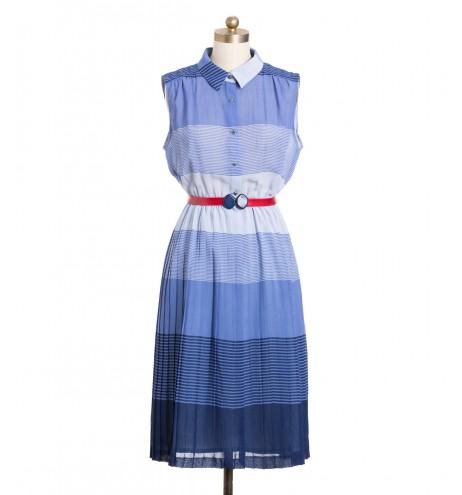 שמלת וינטג' כחלחלה