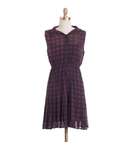 שמלת וינטג' משבצות