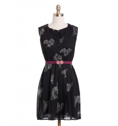 שמלת וינטג' פרחים מנוקדים