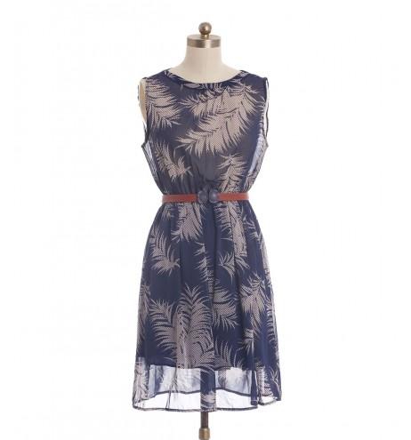 שמלת וינטג' נוצות מנוקדות