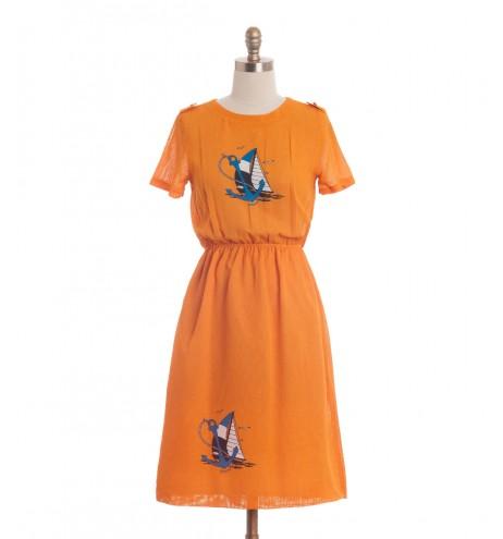 שמלת וינטג' סירה ועוגן
