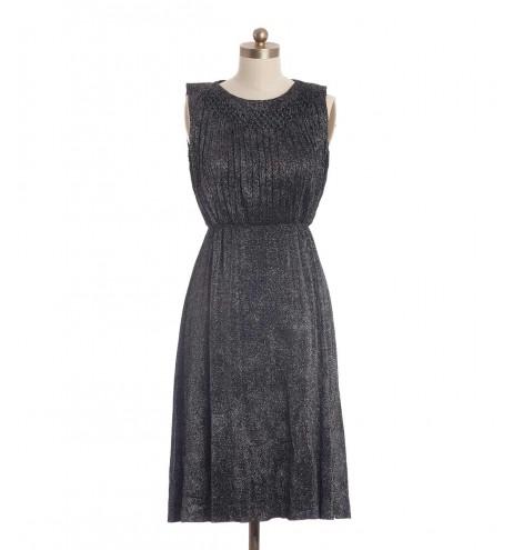 שמלת וינטג' כסופה