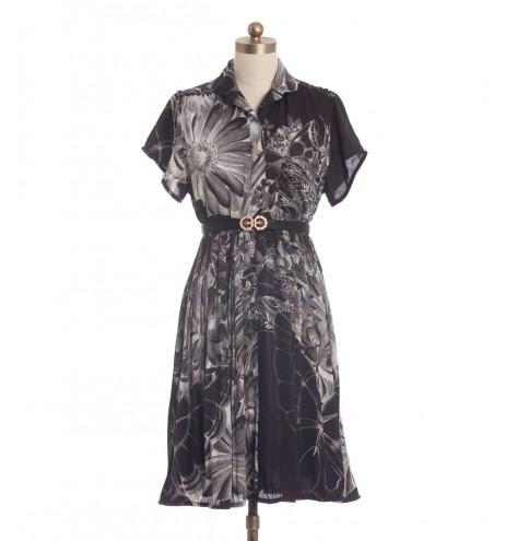 שמלת וינטג' פרחים מודפסים