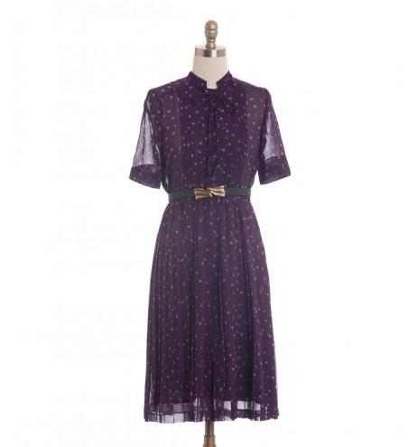 שמלת וינטג' פרחים קטנטנים