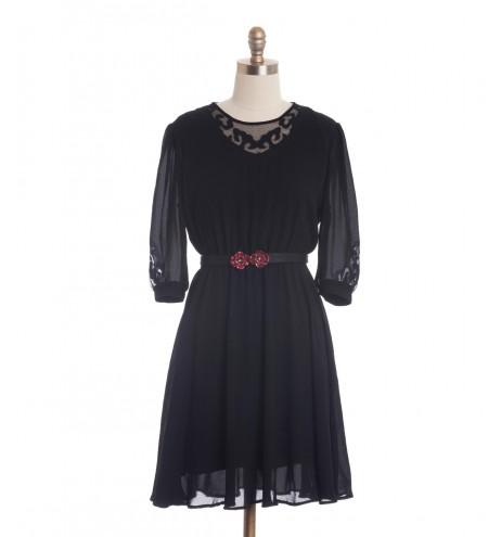 שמלת וינטג' עיטורי תחרה