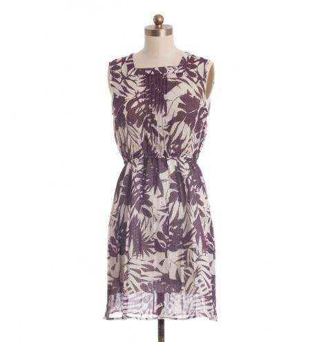 שמלת וינטג' פולקה סגול לבן