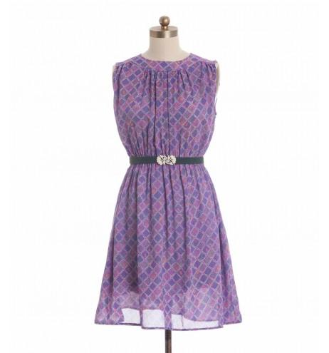 שמלת וינטג' סגולה מעויינים