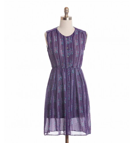 שמלת וינטג' סגולה פרחונית