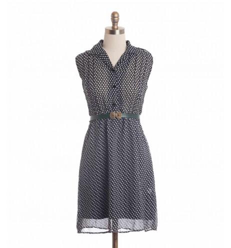 שמלת וינטג' עלעלים