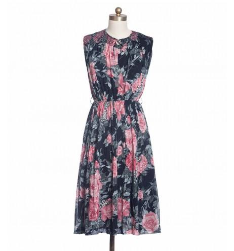 שמלת וינטג' ורדים אביביים