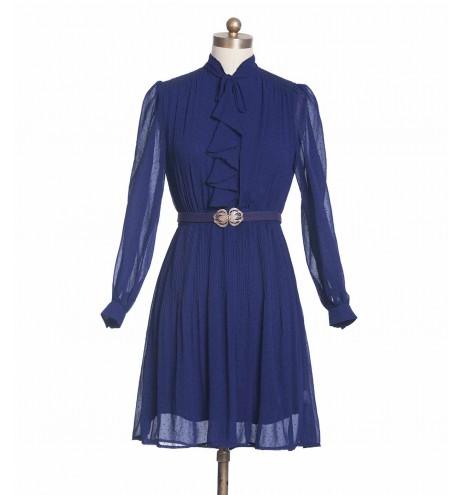 שמלת וינטג' רשת כחולה