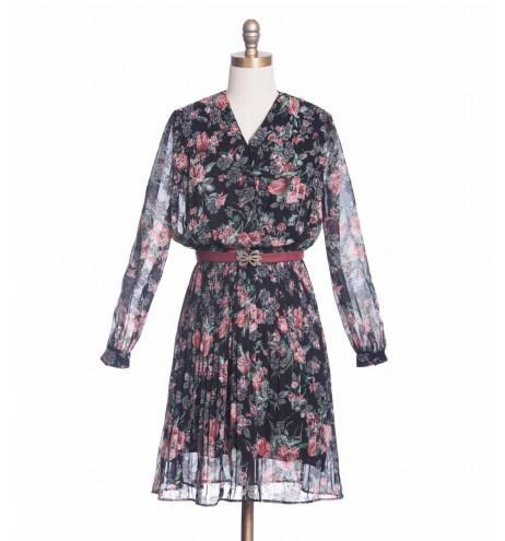 שמלת וינטג' זר שושנים