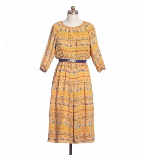 שמלת וינטג' טווסים