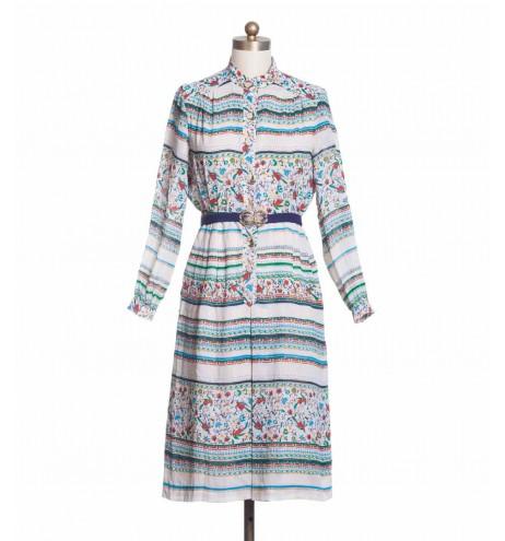 שמלת וינטג' ציפורים אקזוטיות