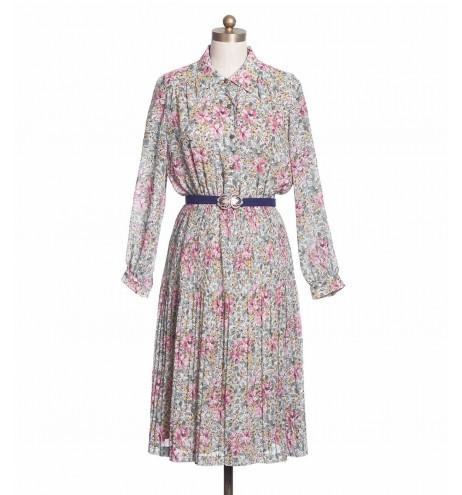 שמלת וינטג' פורחת