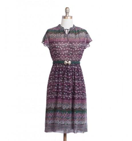 שמלת וינטג' שדות פורחים