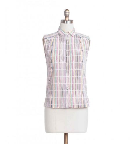 חולצת וינטג' פסים צבעוניים