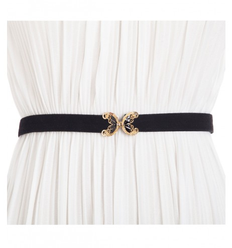 חגורת וינטג' פרפר שחור זהב