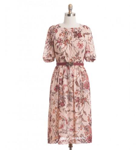 שמלת וינטג' שקיעה קיצית