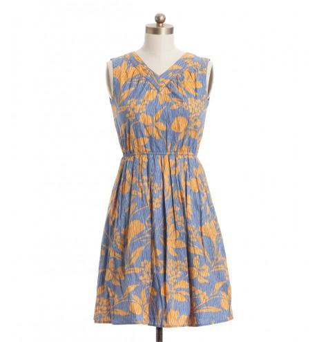 שמלת וינטג' פרחים כתומים