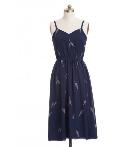 שמלת וינטג' נוצות עדינות