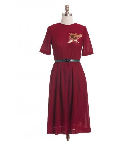 שמלת וינטג' פרח