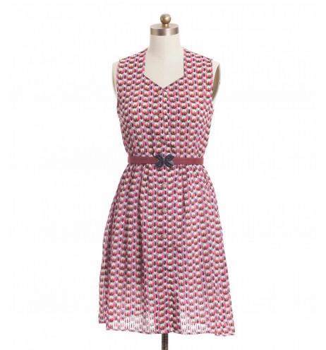 שמלת וינטג' מכופתרת