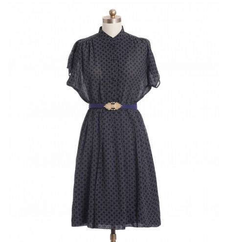 שמלת וינטג' גיאומטרית
