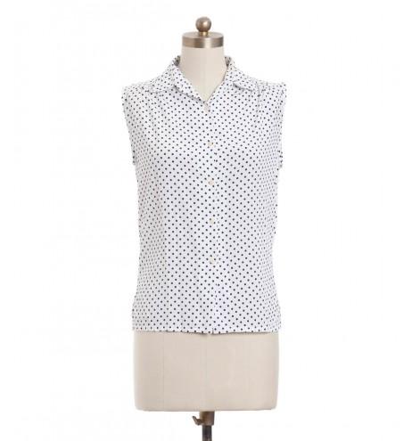 חולצת וינטג' לבנה מנוקדת
