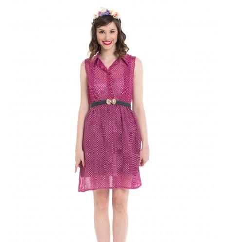 שמלת וינטג' פולקה סגולה