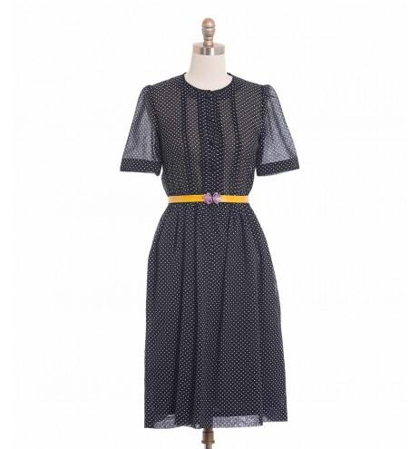 שמלת וינטג' פולקה שחורה