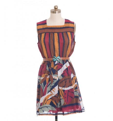 שמלת וינטג' צבעי שלכת