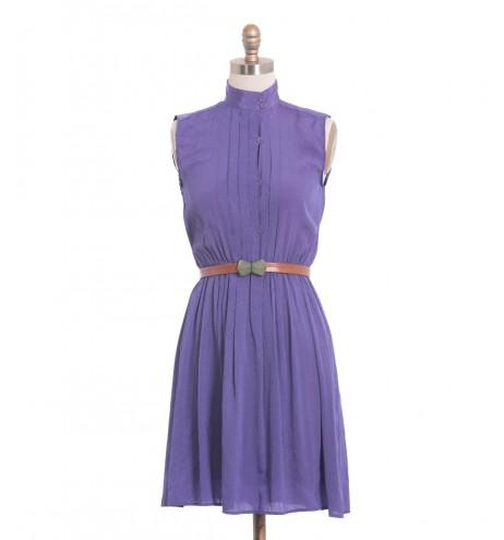 שמלת וינטג' סגול על סגול