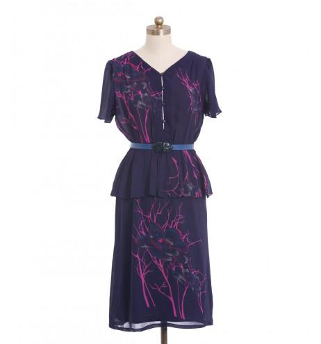 שמלת וינטג' פפלום