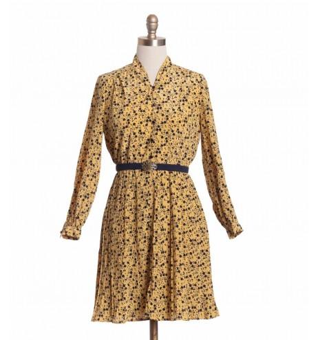 שמלת וינטג' תפוחים