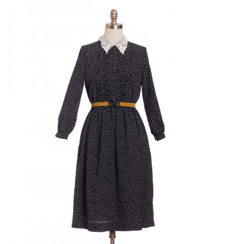 שמלת וינטג' צווארון תחרה