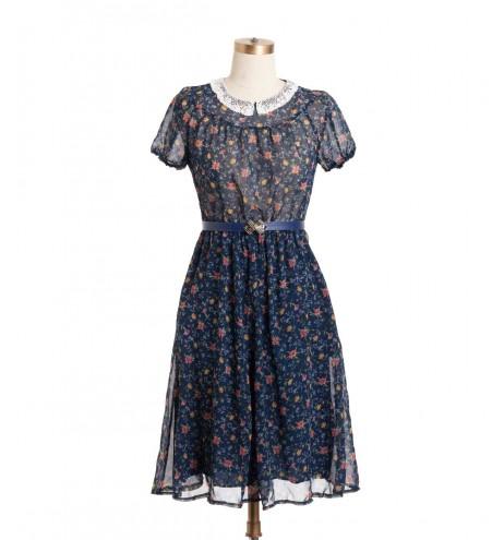 שמלת וינטג' צווארון קרושה