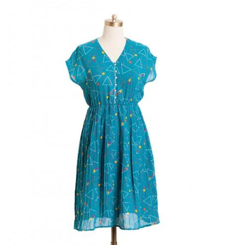 שמלת וינטג' משולשים