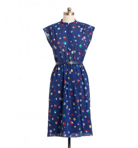שמלת וינטג' כדורים