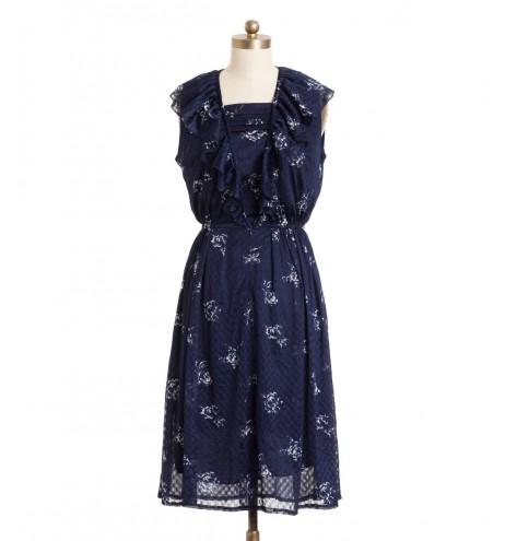 שמלת וינטג' וולן שושנים
