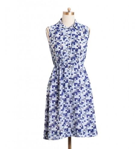 שמלת וינטג' פיקסלים