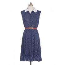 שמלת וינטג' צווארון רקום