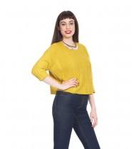 סוודר ג'יימי צהוב ליים