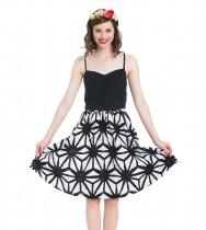 חצאית גאנה שחור לבן