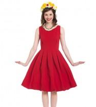 שמלת ספארי אדום