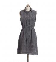 שמלת וינטג' זיגזג