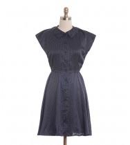 שמלת וינטג' סאטן