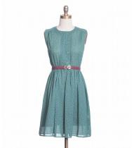 שמלת וינטג' טורקיז