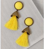 עגילי פעמוני גלאם צהוב
