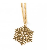 שרשרת פתית שלג זהב